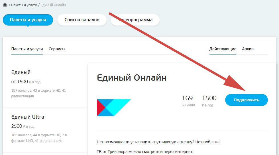"""Услуга """"Единый Онлайн"""" (2021)"""